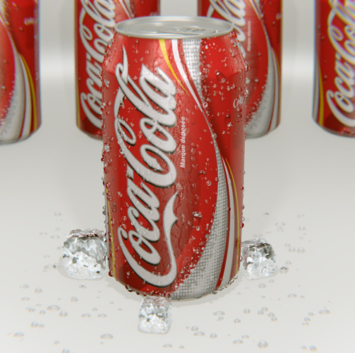 Coca-Cola Can 3D Blender