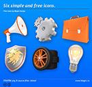 Шесть простых и бесплатных иконок / Six simple and free icons