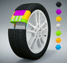 Blender 3D: Wheel (tire sectional)