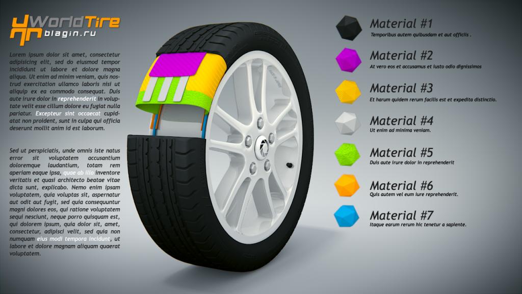 Blender 3D: Wheel (tire sectional)